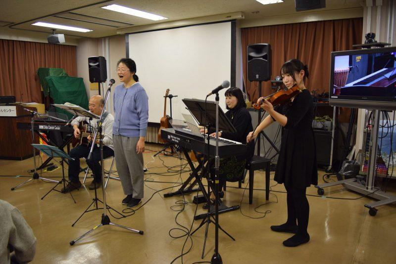 バイオリンと歌