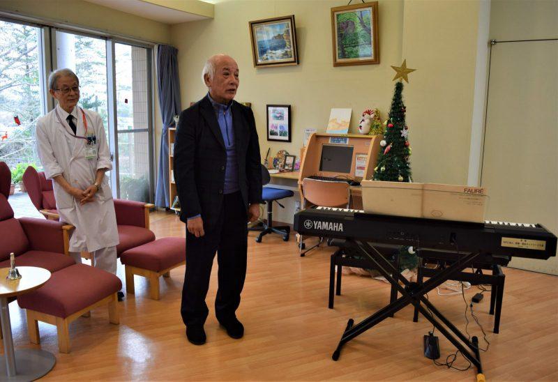 ピアノ寄贈式