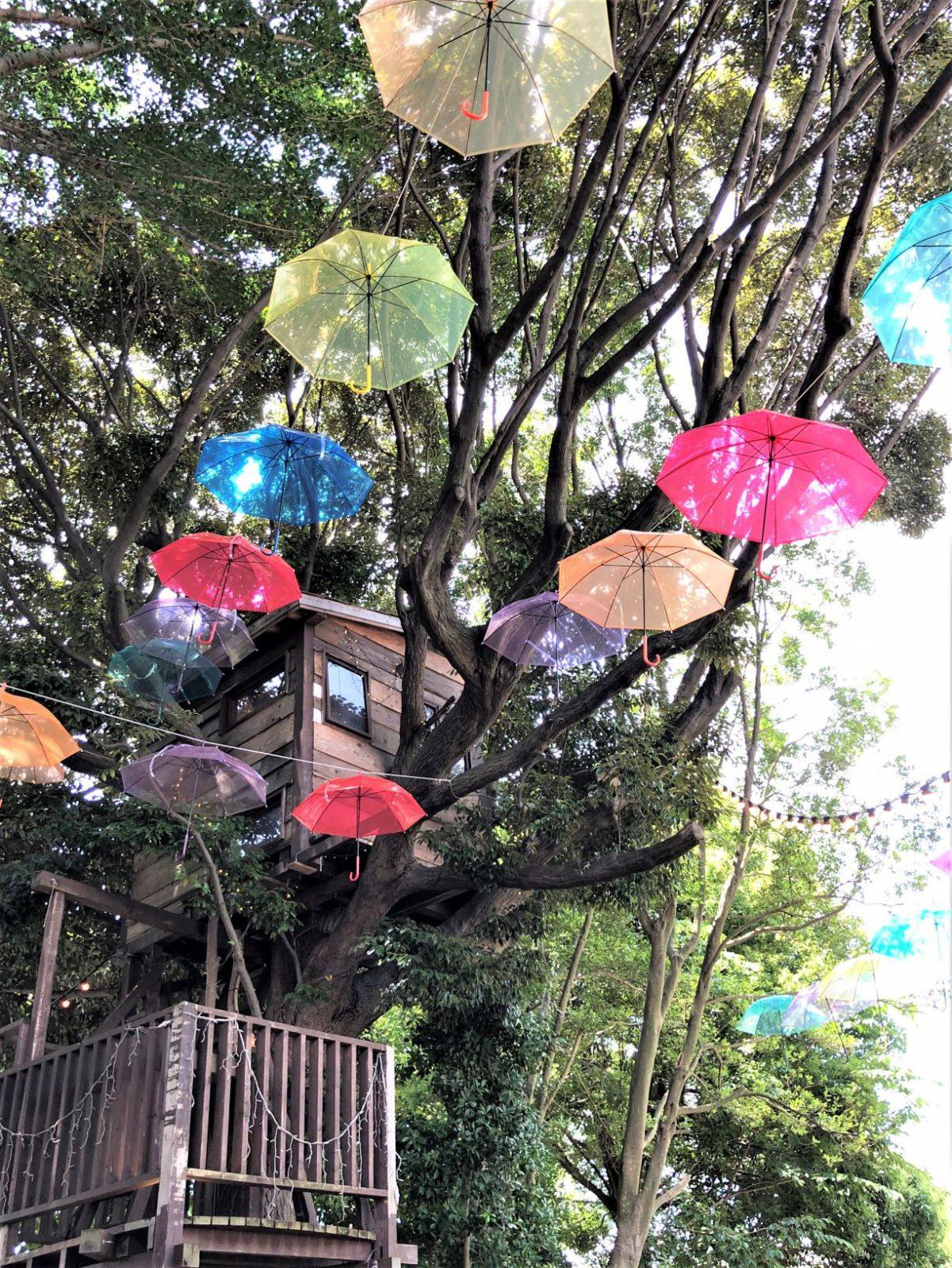 椿森コムナ虹色傘